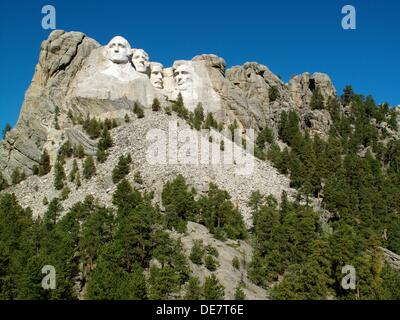 The Mount Rushmore National Monument in the Black Hills in South Dakota, United States - Stock Photo