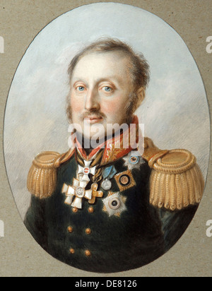 Field Marshal Count Ludwig Adolf Peter of Sayn-Wittgenstein-Ludwigsburg, (1769-1843), 1814. - Stock Photo