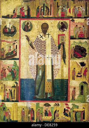 Saint Nicholas Of Zaraisk With Scenes From His Life Museum State A