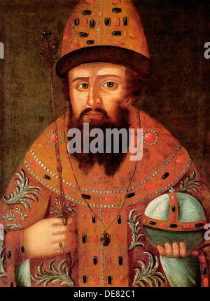 Portrait of the Tsar Michail I Fyodorovich of Russia', (1596-1645), early 17th century. - Stock Photo