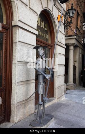 Statue of Don Quixote de la Mancha, Toledo, Spain - Stock Photo