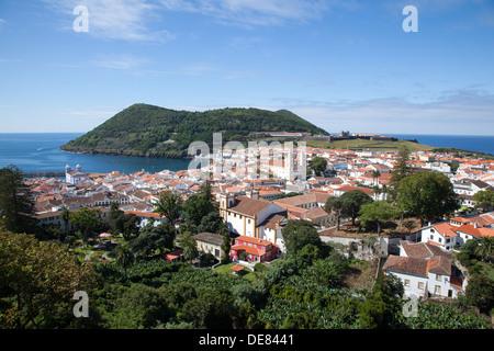 Ilha Terceira , Alto da Memória, Angra do Heroismo, Cidade Património Mundial - Stock Photo