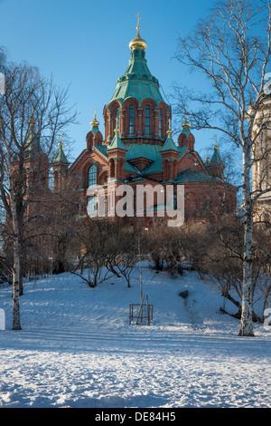 Uspenski Cathedral, Helsinki, Finland - Stock Photo