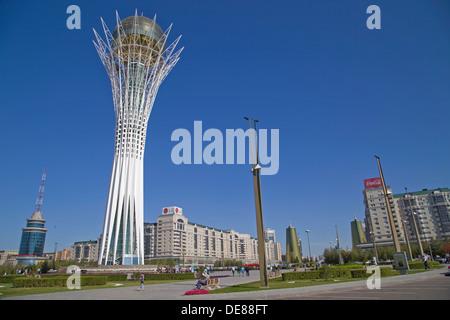 Bayterek tower in Astana, Kazakhstan - Stock Photo