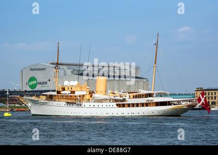 Copenhagen, Denmark, the King Yacht Dannebrog - Stock Photo