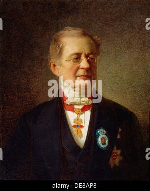 'Portrait of the Chancellor Prince Alexander M Gorchakov', 1867.  Artist: Johann Köler - Stock Photo