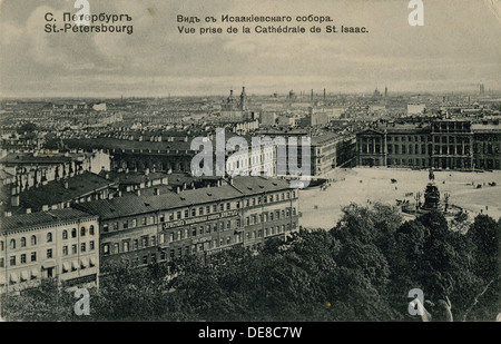 View of the Hotel Astoria from the Saint Isaac's Cathedral in St. Petersburg. Artist: Anonymous - Stock Photo