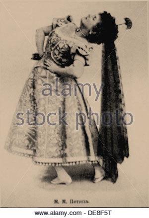 Prima ballerina Marie Petipa (1857-1930). Artist: Anonymous - Stock Photo