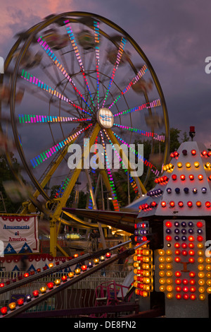 Chatham, New York - A ferris wheel at the Columbia County Fair. - Stock Photo