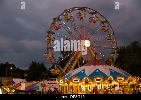 Chatham, New York - Ferris wheel at the Columbia County Fair. - Stock Photo