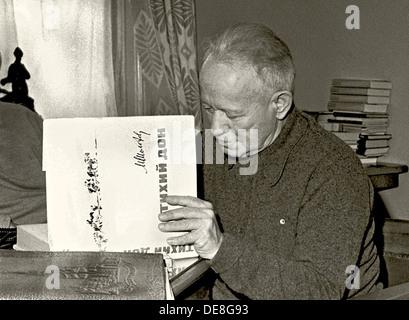 The writer Mikhail Sholokhov (1905-1984). Artist: Anonymous - Stock Photo