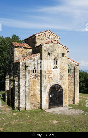 San Miguel de Lillo. Pre-romanesque architeture (9th century). Asturias. Spain - Stock Photo