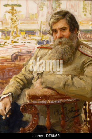 Portrait of the neurophysiologist and psychiatrist Vladimir Bekhterev (1857-1927), 1913. Artist: Repin, Ilya Yefimovich - Stock Photo