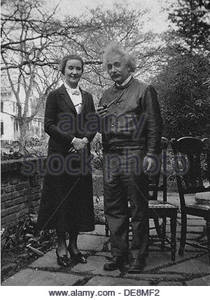 Margarita Ivanovna Konenkova, nee Vorontsova (1896-1980) and Albert Einstein (1879-1955). Artist: Anonymous - Stock Photo