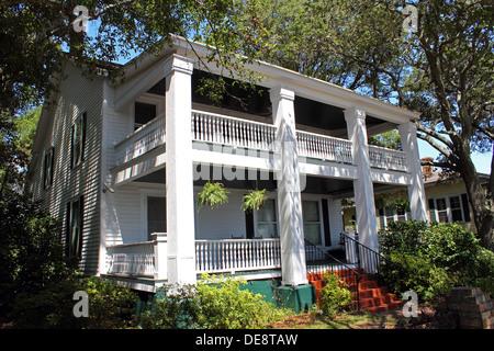An historic southern home, Southport North Carolina USA - Stock Photo