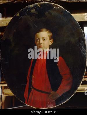 Portrait of Tsarevich Nicholas Alexandrovich of Russia (1843–1865). Artist: Zaryanko, Sergei Konstantinovich (1818 - Stock Photo