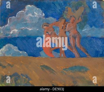 Maenads, 1914. Artist: Ulyanov, Nikolai Pavlovich (1875-1949) - Stock Photo
