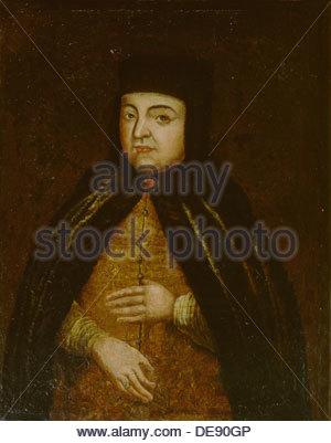 Portrait of the Tsarina Natalia Naryshkina (1651-1694), wife of tsar Alexis I of Russia, Second Half of the 17th - Stock Photo