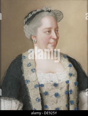 Portrait of Empress Maria Theresia of Austria (1717-1780), 1762. Artist: Liotard, Jean-Étienne (1702-1789) - Stock Photo