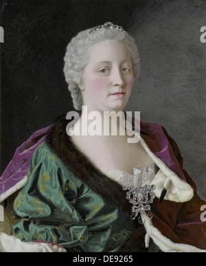 Portrait of Empress Maria Theresia of Austria (1717-1780), 1747. Artist: Liotard, Jean-Étienne (1702-1789) - Stock Photo
