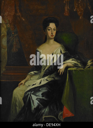 Portrait of Princess Hedvig Sofia of Sweden, Duchess of Holstein-Gottorp (1681-1708), End of 17th cen.. Artist: - Stock Photo