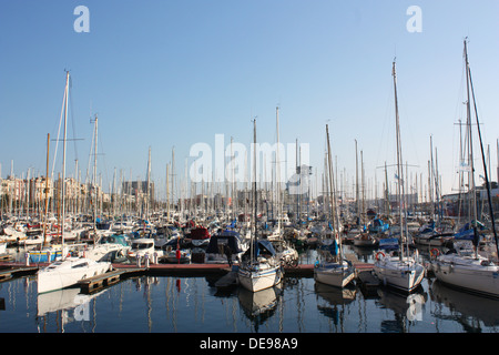 Boats in Barcelona, Spain - Stock Photo