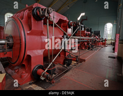 Astley Green Pit Red No1 Winding Gear Engine - Stock Photo