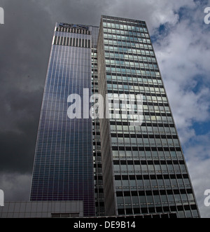 BIPV Solar panels on New Century House, COOP,Manchester, England, UK - Stock Photo