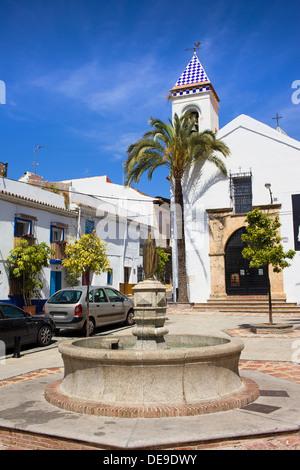 Hermita Del Santo Cristo at the Plaza Santo Cristo in Marbella, Spain, Andalusia region. - Stock Photo