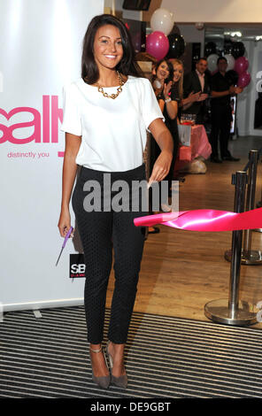 London, UK . 12th Sep, 2013. Michelle Keegan attends a photocall to launch the new 'Sally' store on Oxford Street, - Stock Photo