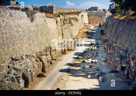 Ruins of Grand Master's Palace - Rhodes Island - Stock Photo