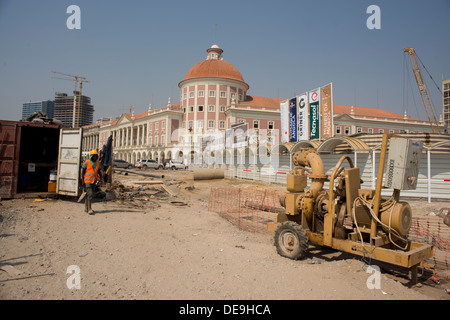 Building site, Luanda, Angola - Stock Photo