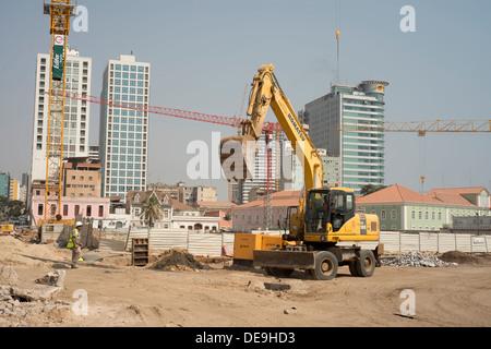 A building site, Luanda, Angola - Stock Photo