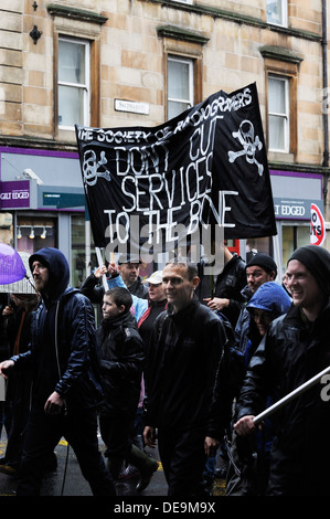 Anti Cuts Rally in Glasgow - Stock Photo