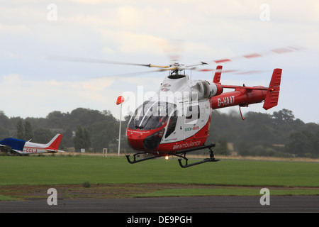 Essex and Herts Air Ambulance Police Aviation Services MD Helicopters MD-900 Explorer aircraft - Stock Photo