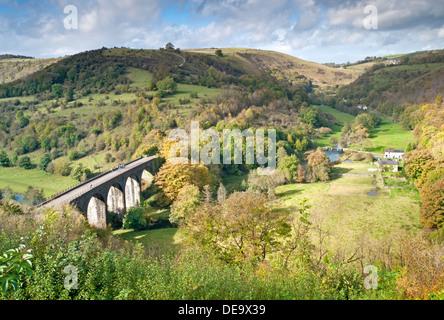 Monsal Dale and Headstone Viaduct, Peak District National Park, Derbyshire, England, UK - Stock Photo