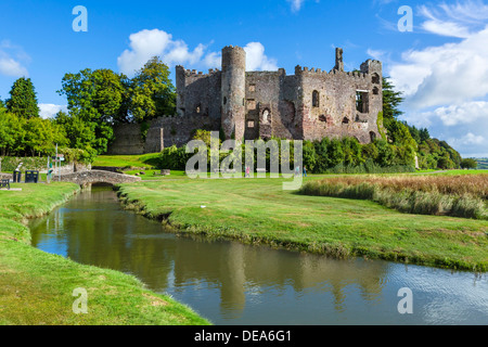 Laugharne Castle, Laugharne, Carmarthenshire, Wales, UK - Stock Photo
