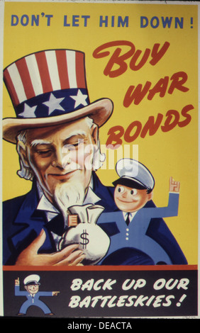 Don't Let Him Down 5E Buy War Bonds 534106 - Stock Photo
