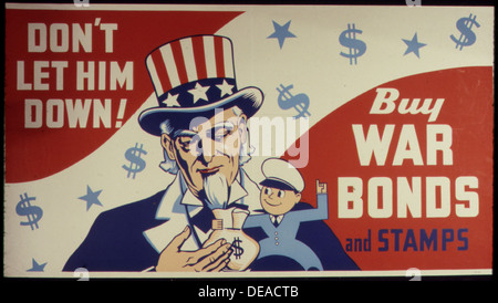 Don't Let Him Down 5E Buy War Bonds and Stamps 534112 - Stock Photo