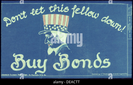 Don't Let This Fellow Down 5E Buy War Bonds 534008 - Stock Photo