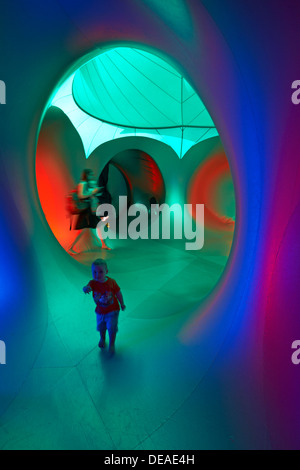 Inside the Amococo Luminarium at Bournemouth, Dorset UK in September - Stock Photo