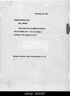 National Security Action Memorandum No. 20 Battle Act 193420 - Stock Photo