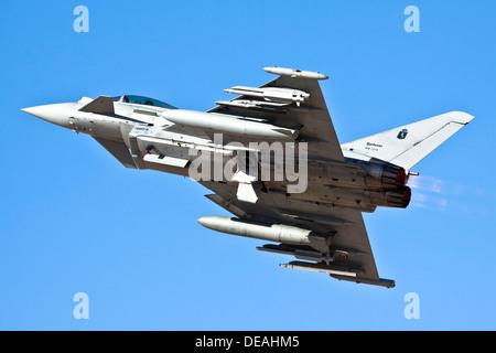 Italian Air force Eurofighter Typhoon in flight - Stock Photo