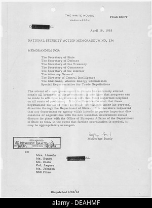 National Security Action Memorandum No. 234 Canadian Government 193610 - Stock Photo