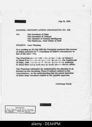 National Security Action Memorandum No. 256 Laos planning 193630 - Stock Photo