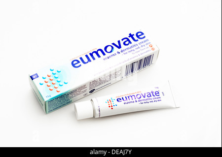 Eumovate Eczema & Dermatitis cream (clobetasone butyrate) steroid cream - Stock Photo