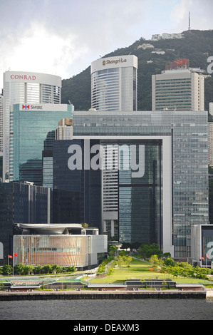 Central Government Complex office in the commercial center of Hong Kong - Stock Photo