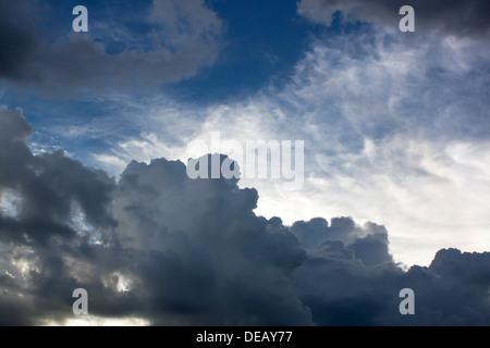 Rainy cloudy sky before the storm rain. - Stock Photo