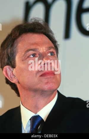 Ex-British Prime Minister Tony Blair during first election campaign in London, UK,  1997 - Stock Photo