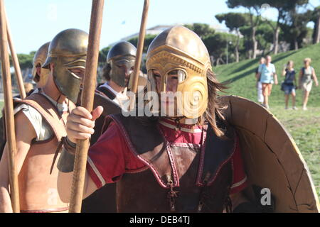 Rome, Italy 14th September 2013- Ludi Romani- 4th International festival of Roman Culture and Civilisation at the - Stock Photo